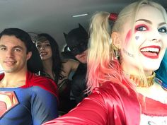 "10k Likes, 34 Comments - Laura Gilbert  (@infamous_harley_quinn) on Instagram: ""Ew, this car absolutely reeks of justice  Can't wait for my DC SKWAD to come up from Melbourne for…"""