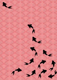 Choomi Kim Textile: Koi wallpaper design