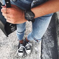 The Black Marble - Comes with a genuine kangaroo leather strap ✔️ $139AUD / $99USD Free Shipping Worldwide! @andicsinger