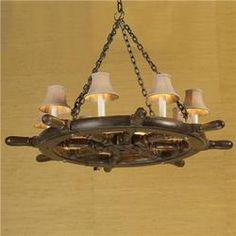 Ships wheel chandelier 895 interiors i love pinterest wheel ships wheel chandelier mozeypictures Gallery