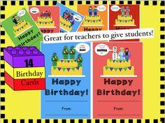 Birthday cards! Lego Theme