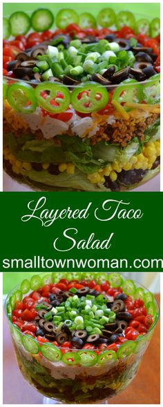 This Layered Taco Salad is as beautiful as it is delicious!