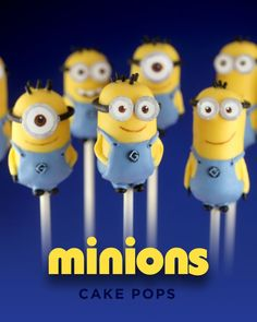 Host a Minion Party! How to make Minion Cake Pops by Bakerella - scroll down page until you find this picture and directions. Minion Birthday, Minion Party, Birthday Ideas, Birthday Recipes, Birthday Cakes, Pastel Minion, Minion Cake Pops, Minion Cakes, Pop Minion