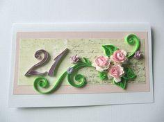 21. narozeninám blahopřání, Daughter narozeninám, Girlfriend narozeninám, Personalizované Romantic Gift Card za její