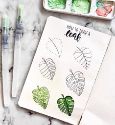A step by step tutorial on how to draw a leaf by ig@lafondari | drawings & doodles