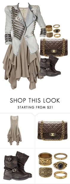 """Untitled #3222"" by erinforde ❤ liked on Polyvore featuring AllSaints, Balmain, Chanel and Superdry"