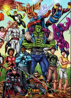 Três anos atrás, pedi a meu amigo e artista José Luís ( TEEN TITANS, RED TORNADO ) para trabalhar em um pôster dos Titãs para mim. Se... Batgirl, Nightwing, Arte Dc Comics, Teen Titans, Dc Comics Collection, Comic Book Superheroes, Comic Books, Comic Art, Hq Marvel