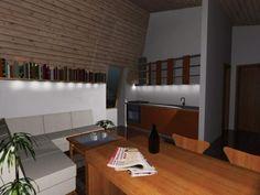 Casa Ecologica MICRO STANDARD - Construcții de case din lemn și case imprimate 3D Conference Room, Sweet Home, Table, House, Furniture, Home Decor, Houses, Decoration Home, House Beautiful