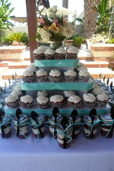 Cupcakes-in-a-Jar favors from my bridal shower.