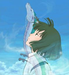 Spirited Away - Haku - Ghibli Art Studio Ghibli, Studio Ghibli Movies, Anime Guys, Manga Anime, Anime Art, Hayao Miyazaki, Animation, Personajes Studio Ghibli, Spirited Away Haku