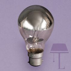 Silver Reflector light bulb