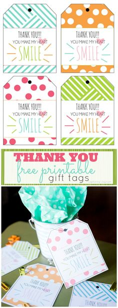 Thank You Free Printable Gift Tags