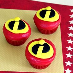 Mr Incredible CupCake Recip PLUS 44 Top Disney Cupcake Recipes | Spoonful