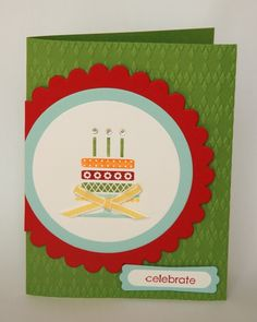 Embellished Events Birthday Card - uses the new Argyle embossing folder which I LOVE!