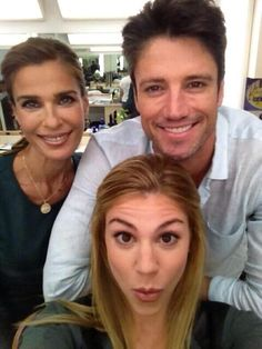 James Scott, Kate Mansi and Kristian Alfonso behind the scenes Days of our Lives Day Of My Life, Our Life, Kate Mansi, Kristian Alfonso, Deidre Hall, Alison Sweeney, James Scott, Soap Stars, Stars Then And Now