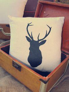 Father's Day - Custom Pillow - Deer - Buck - Antlers - Vintage via Etsy