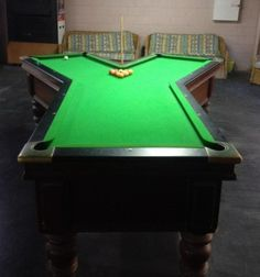 If you thought learning to play pool was hard imagine learning on one of these weird and unusual shaped pool tables, because some of them are bizarre! Wet Bar Basement, Basement Bar Designs, Home Bar Designs, Basement Finishing, Basement Ideas, Best Pool Tables, Custom Pool Tables, Billiard Pool Table, Billiards Pool