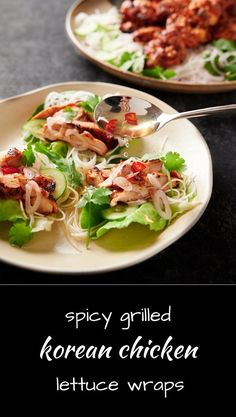 Try this spicy Korean chicken in a lettuce wrap with rice noodles and lettuce and a drizzle of nuoc cham. Or serve it with rice and ssamjang. Seafood Recipes, Indian Food Recipes, Asian Recipes, Dog Food Recipes, Dinner Recipes, Healthy Recipes, Ethnic Recipes, Asian Desserts, Spicy Recipes