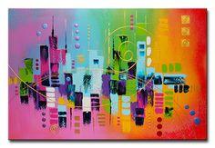 Peintures Acryliques, PEINTURE TABLEAU OEUVRE ART ABSTRAIT SUR TOILE est une création orginale de acryliks sur DaWanda