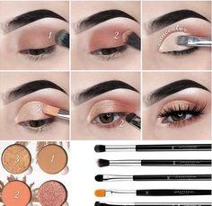 Prom Eye Makeup, Eye Makeup Steps, Simple Eye Makeup, Blue Eye Makeup, Smokey Eye Makeup, Makeup Eyeshadow, Eyeshadow Makeup Tutorial, Natural Eyeshadow, Simple Eyeshadow Looks