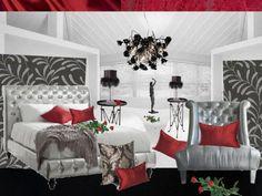 Romantic Valentine Day Bedroom #valentine #moodboard #romantic www.sampleboard.com