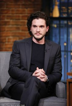 Taking a short-cut: Kit recently told Seth that he only read his scenes - rather than the entire script - for the new series, in order to enchance his viewer experiecne