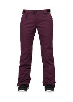 686 Womens Snowboard Pants Authentic Patron Concept Plum Pincord