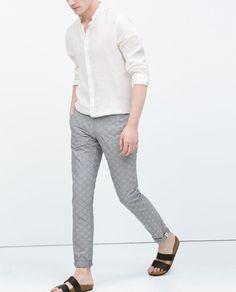 ZARA - MAN - Grey jacquard trousers