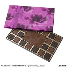 Pink Roses Floral Pattern Chocolate Box