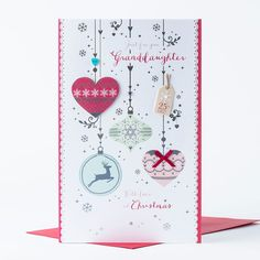 Christmas Card - Just For You Granddaughter | Only £1.49