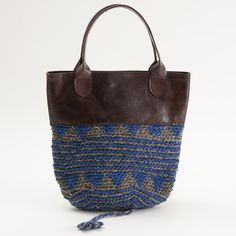 SOLEIL MAROC knit × leather bag