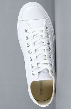 a3bf12babd0f Converse The Chuck Taylor All Star Leather Ox Sneaker in White Monochrome  All White Converse