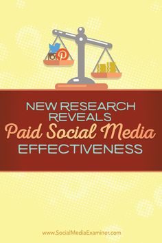 research results on paid social media marketing