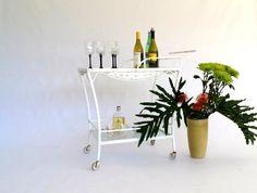 white iron cart