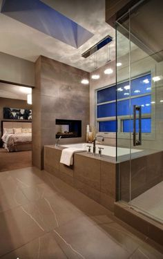Amazing!Huge bathtub.. Sky light and a fireplace!!..