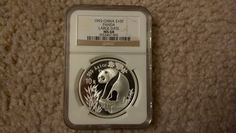 1993 China Silver Panda Large Date Frosted 1Oz NGC MS68 10 Yuan S10Y Ag
