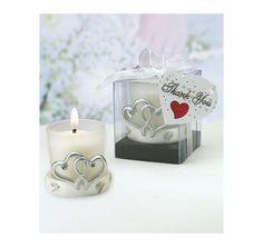 Interlocking Heart Candle Wedding Favor