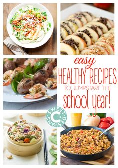 Easy Healthy Recipes to Jumpstart the School Year