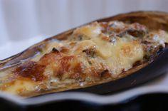 Nadziewany bakłażan zapiekany pod Frontierą blue #cheese #polish #eggplant #recipe