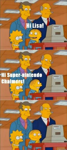 Springfield Elementary STILL uses those Coleco computers...and Chalmers is STILL addressed as Super Nintendo instead of superintendent.