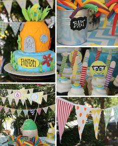 Sponge Bob Birthday Party via Kara's Party Ideas #decorations #idea