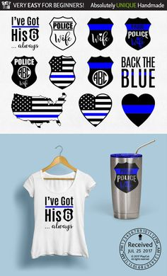 Police Wife Svg Thin Blue Line Svg Police badge svg Back the blue svg I've got his 6 Svg Dxf Eps Jpg Png Clipart Cricut Silhouette cut files Monogram Alphabet, Monogram Fonts, Font Alphabet, Free Monogram, Vinyl Cutter Machine, Police Crafts, Police Wife, Police Officer, Police Shirts