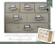 card catalog on the cheap, painted furniture, repurposing upcycling