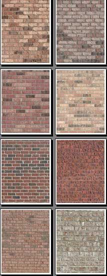 New brick backgrounds for scrapbooks