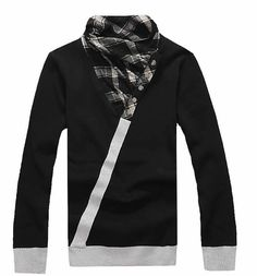 High Neck Vogue Slim Long Sleeve Men Black Kitting Sweater One Size @SJ36972b