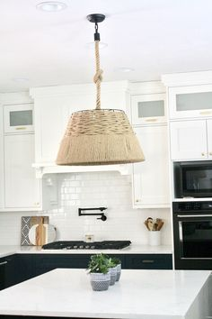 Olde World pendant made of rope and steel. Can be used in a bedroom, dining room, kitchen, play room or entryway. Farmhouse, modern farmhouse, boho or  rustic style. #kitchendesign #kitchenlighting #kitchenpendant #farmhousestyle #farmhouselighting #modernfarmhouse #modernfarmhouselighting #boholighting #ropelighting #rusticstylelighting #rusticpendant #kitchenremodel #kitchenlightingoverisland #kitchenlightingfixtures #ropelightingideaskitchen #ropeinkitchen #boholightingkitchen…