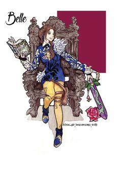 Belle [as Kingdom Hearts] (Drawing by LiLice-XD Disney Pixar, Disney And Dreamworks, Disney Animation, Disney Art, Disney Style, Disney Love, Disney Magic, The Last Princess, Alternative Disney Princesses
