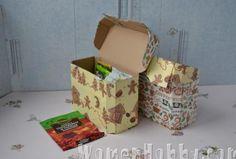 decoupage boxes from under the Persil DIY (Декупаж коробочек из под Persil мастер-класс)
