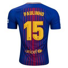 Nike Paulinho Barcelona Home Jersey 17/18