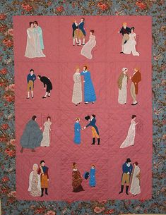 Regency Applique, a quilt pattern inspired by Jane Austen's Pride and Prejudice